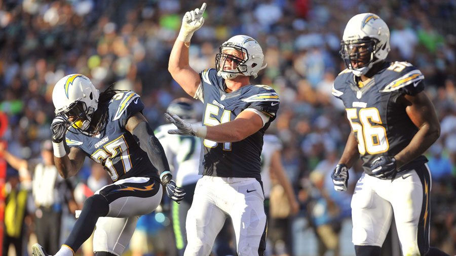 The Chargers have had 10 days off between games.