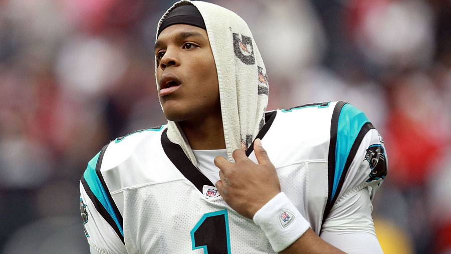 Cam Newton, prime candidate for the MVP title.