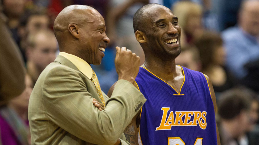 The Lakers who lost in Philadelphia when Kobe returned for the last time in front of the fans in his hometown.