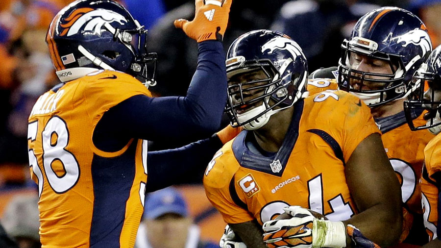 The Broncos have enjoyed of a strong defensive line.